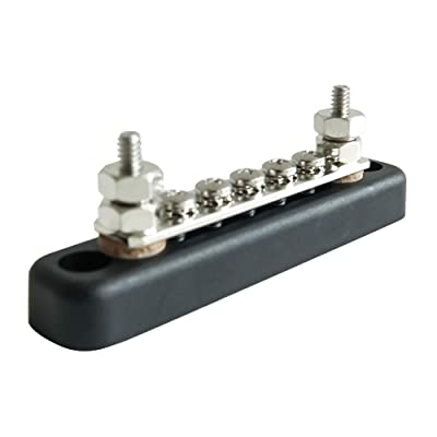 5 Terminal 100 Amp Bus Bar Power and Ground Junction Distribution Block, Ocean River Boat Wire Terminal Block Buss Bar for Electrical Equipment Automotive Truck RV: Car Electronics