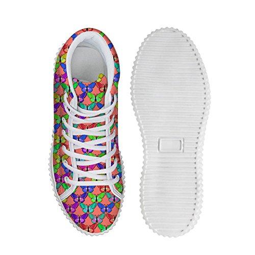 Câlins Idée Mode Fleuriste Femmes Plate-forme Espadrilles Haut Haut Chaussures Papillon 4