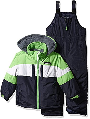 London Fog Big Boys' 2-Piece Colorblock Snow Bib and Jacket Snowsuit