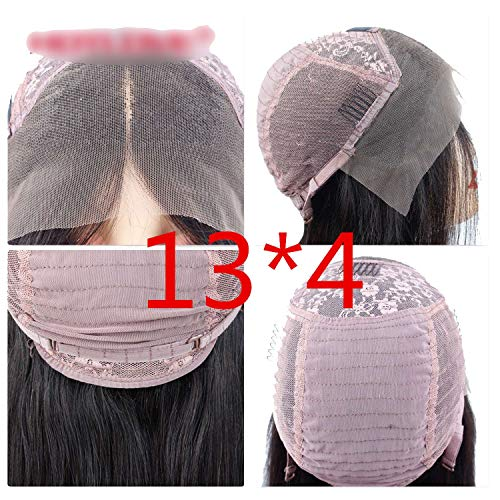 Short Lace Front Human Hair Wigs Brazilian Non-Remy Hair Bob Wig with Bleached Knots 130% Density Hairline,Natural Color,12inches,130%