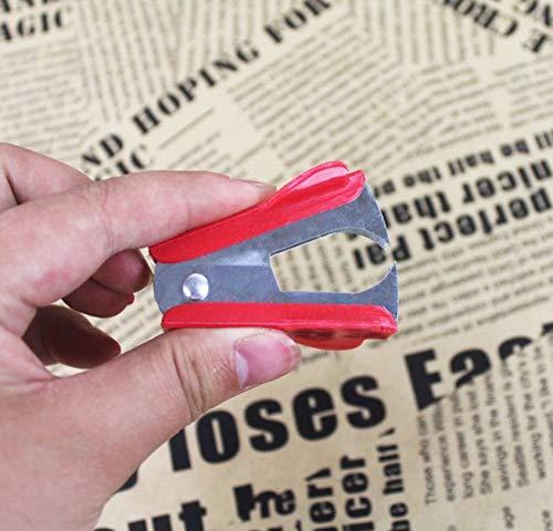 Portatile Facile da Viaggio Mini Staple Remover Prodotti per Ufficio Cancelleria Plastica Impugnatura Tipo di Artiglio Remover per Serratura 24//6 26//6 Rosso