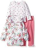 Little Me Little Girls Floral Jacket with Legging Set, Pink Floral, 18 Months