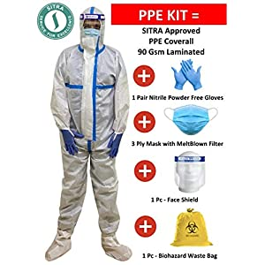 CA PPE kit 90 GSM SITRA Certified White