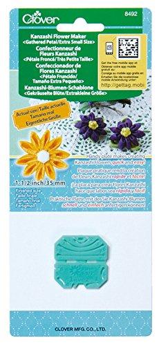 Clover 8492 Kanzashi Flower Maker Gathered Petal Quilt Pattern, X-Small ()