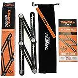 Tarantula Tools Multi Angle Measuring Ruler Template Tool - Black Aluminum Adjustable Angleizer - Ultimate Angle Tool - All Metal No Plastic - Easily Set The Right Measurement - Makes Perfect angles