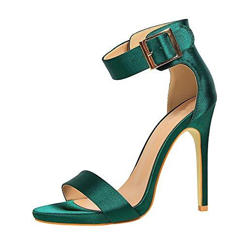 Femme Sandales Talons Chaussure Soirée Sandales Hauts de pour Vert Chaussures Élégant Mariage Ete Chaussures Chaussures Confortables Femmes Ouverte adIdw