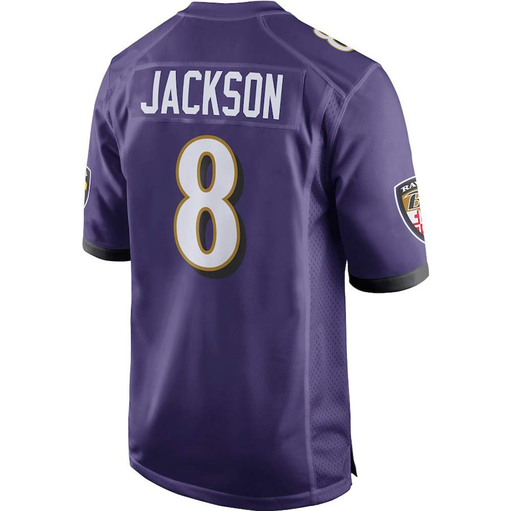 TKGFTU Men's/Women's/Youth_Lamar_Jackson_Purple_2018_Game_Jersey