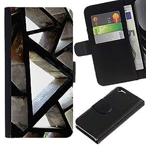 KLONGSHOP // Tirón de la caja Cartera de cuero con ranuras para tarjetas - Ingeniería de Edificación Arquitectura Polígono - Apple Iphone 6 //