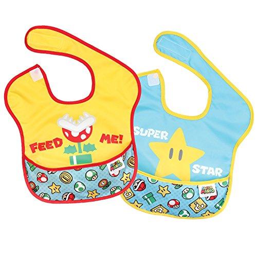 Bumkins Nintendo 2 Piece Super Bib, Feed Me/Superstar, 6-24 months by Bumkins