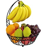 Surpahs Countertop Fruit Basket Stand w/ Removable Banana Hanger