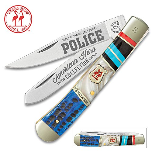 (Kissing Crane Police Officer Trapper Pocket Knife)