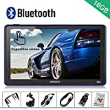 Xgody 886BT Car Trucking GPS Navigation System 16GB 7 Inch Touch Screen Vehicle GPS Navigator Spoken Turn-By-Turn Lifetime Map Updates Speed Limit Displays Support Bluetooth AV/IN
