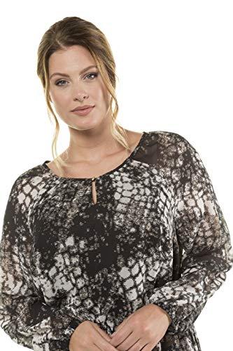 Popken Tailles Ulla Grandes Longue Femme 720403 Blouse Noir 0vmNn8w