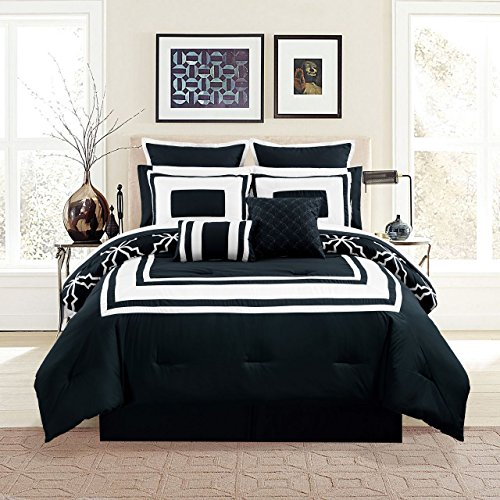 Black And White California King Bed In A Bag - 5