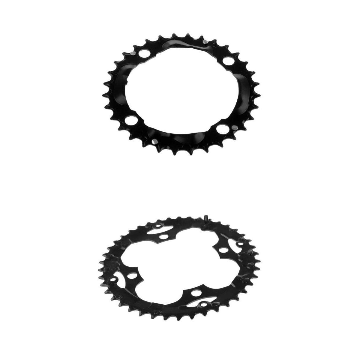 Magideal 2 Unids Road Bike Single Chainring 104mm 4 Pernos Bicicleta de Montaña Anillo de Cadena
