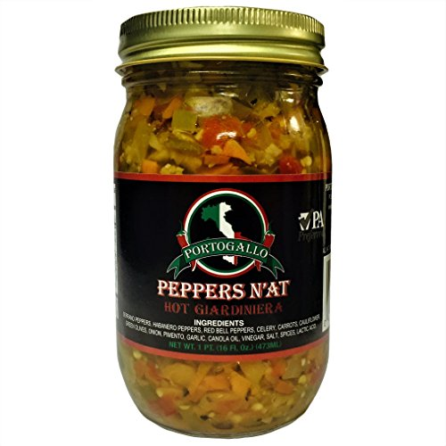 Portogallo Peppers N'AT Giardiniera - HOT Habanero (Pack of 2)