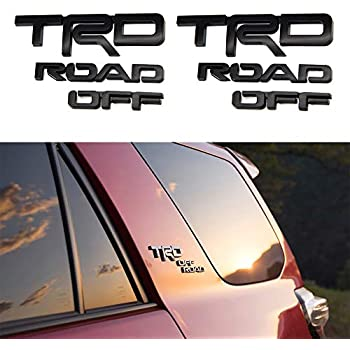 Carstore 3D Letters Black TRD Off Road Badge Decal Sticker Nameplate Fender Side Emblem Fit for 2010-2019 4Runner