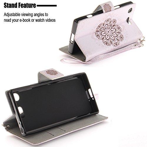Carte pour avec Sony Compact Clapet Support Luxe Portefeuille Coque et Xperia Housse PU Coque Lohpe Cuir S 16 XZ1 de Fentes Protecteur HqdnE6wwC
