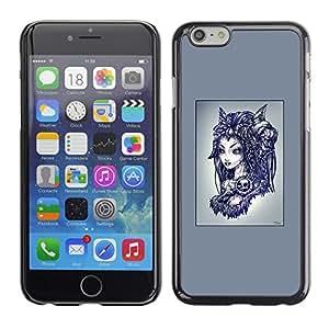 Caucho caso de Shell duro de la cubierta de accesorios de protección BY RAYDREAMMM - Apple Iphone 6 Plus 5.5 - Goth extranjero Princesa