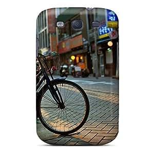 Cute High Quality Galaxy S3 Bicycle Urban Landscape Case