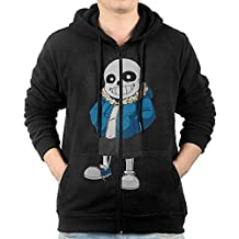 KIHOYG Men's Undertale Sans Hooded Zip Front Sweatshirt