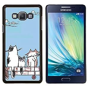 EJOOY---Cubierta de la caja de protección para la piel dura ** Samsung Galaxy A7 A7000 ** --Gatos