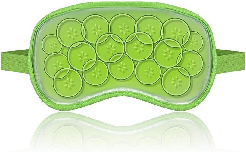 Maschera per gli occhi caldi e freddi - Reutilizable - Ideal para blefaritis,edema de bolsas oculares,ojos hinchados,ojeras,resacas,etc.