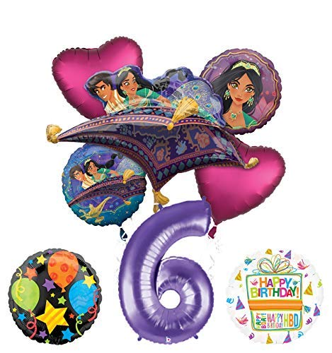 Mayflower Products Aladdin 6th Birthday Party Supplies Princess