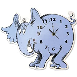 Trend Lab Dr. Seuss Horton Elephant Shaped Wall Clock, Blue