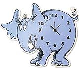 Trend Lab Dr. Seuss Horton Elephant Shaped Wall Clock, Blue