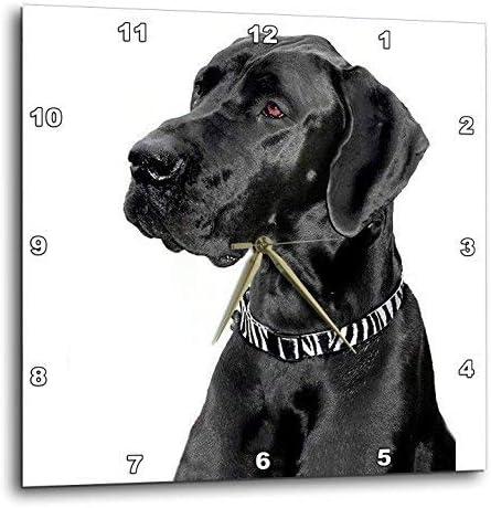 3dRose LLC Black Great Dane 10 by 10-Inch Wall Clock