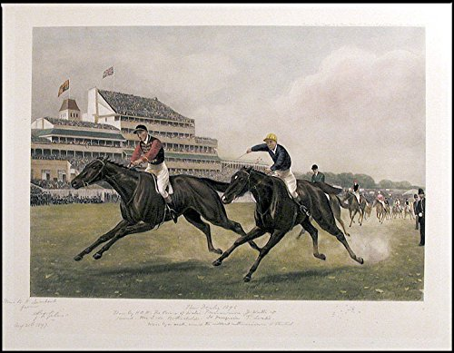 The Derby 1896, won by H.R.H. The Prince of Wales' Persimmon. by