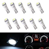 XT AUTO 10x T5 58 70 74 Dashboard Gauge 1SMD White LED Wedge Instrument Panel Light Bulb