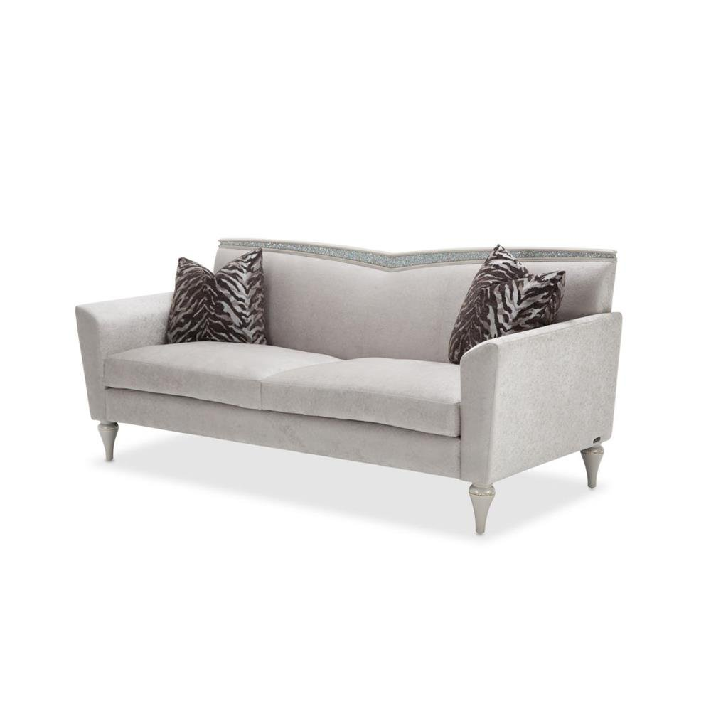 Phenomenal Amazon Com Aico Amini Melrose Plaza V Back Loveseat In Dove Pabps2019 Chair Design Images Pabps2019Com