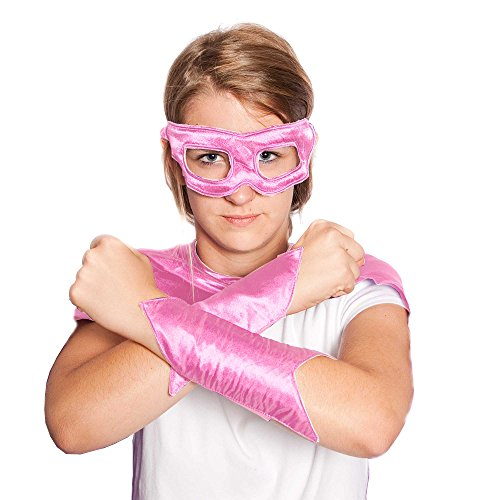 Everfan Women's Superhero Eye Mask and Powerbands 6