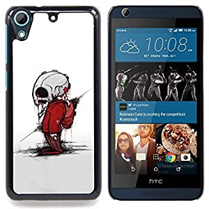 - Zombie Skeleton - - Cubierta del caso de impacto con el patr??n Art Designs FOR HTC Desire 626 & 626s Queen Pattern