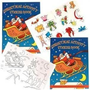 4 sheets 48 Christmas Stickers CHILDRENS CRAFTS STICKER BOOK Stocking fillers