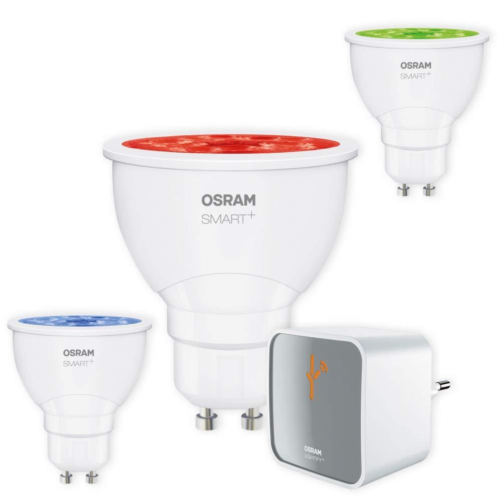 Starter Set OSRAM SMART+ LED GU10 RGB RGBW Lightify Alexa kompatibel + Gateway Auswahl 3er Set