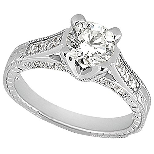 (Antique Style Diamond Engagement Ring Setting Platinum (0.40ct))