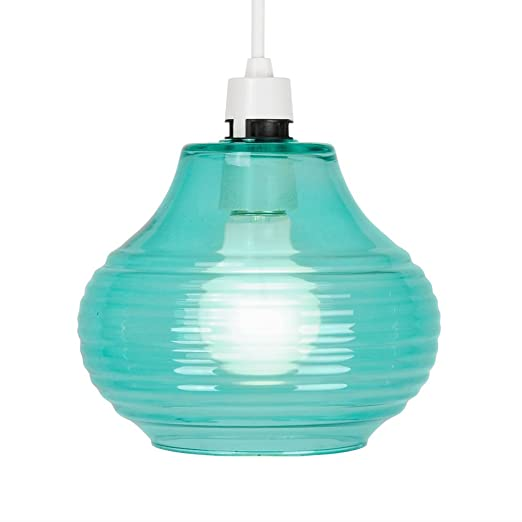 Modern greenturquoise glass ceiling pendant light shade amazon modern greenturquoise glass ceiling pendant light shade aloadofball Gallery
