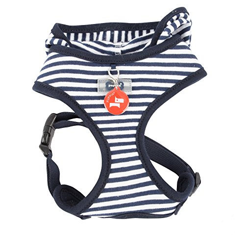 Puppia Authentic Beach Party Harness, Medium, Navy