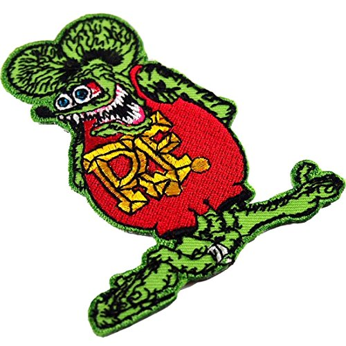 [R.f. Rat Fink Big Daddy Hot Rod Logo Tab Patch Sew Iron on Embroidered Applique Sign Jackt T Shirt Costume Gift. For Collection with By] (Costumes F)