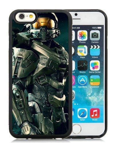iPhone 6 Case,Master Chief Halo Black iPhone 6S 4.7 Inches Cover Case,Fashion TPU (Iphone 6 Master Chief Case)