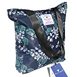 Original Floral Tote Bag Shoulder Bag for Gym Hiking Picnic Travel Beach ([L] Floral Leaf) Review