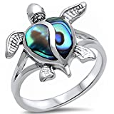 Simulated Abalone Shell Turtle .925 Sterling Silver Ring - Best Reviews Guide