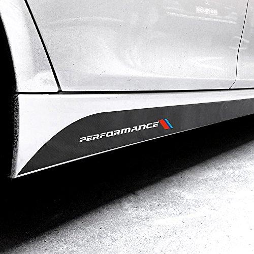 Bmw E46 Side Skirts - 2pcs New M Performance Logo Side Skirt Stickers Decal Graphic for BMW e46 e39 e60 e90 e36 f30 f10 X 5 e53 e70 e34 e30 f20 f15 g30 (Reflective White)