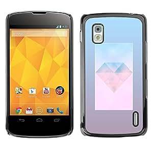 PC/Aluminum Funda Carcasa protectora para LG Google Nexus 4 E960 diamond jewel gem day polygon art / JUSTGO PHONE PROTECTOR