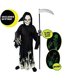Grim Reaper Glow in The Dark Deluxe Phantom Costume Kids