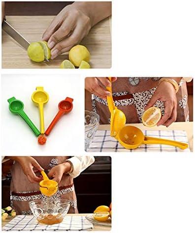CloverGorge Exprimidor de Frutas a Presión Manual Exprimidor de Limón Exprimidor de Cítricos y Naranja, Verde