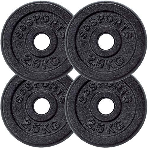 ScSPORTS - Pesas en forma de disco, 4 unidades de 2,5kg: Amazon.es ...